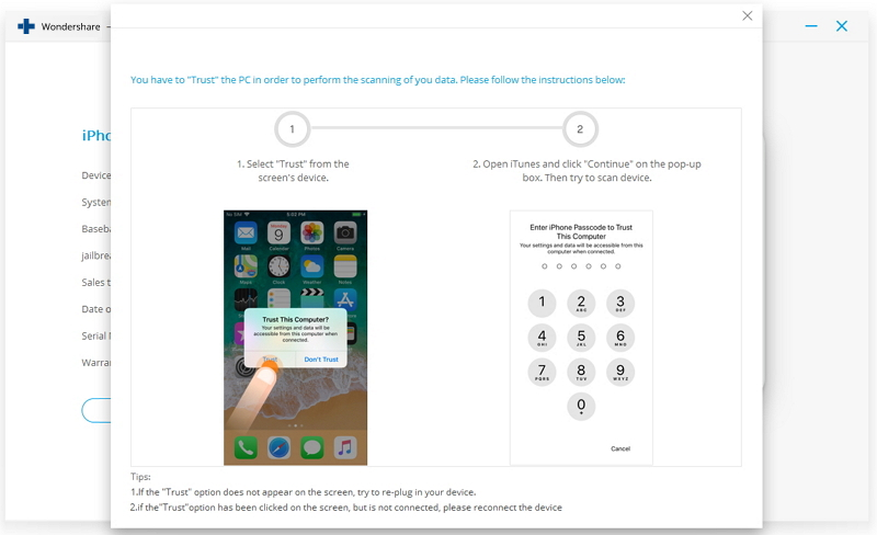 how to unlock iphone 5 passcode without itunes-ignore the trust popup