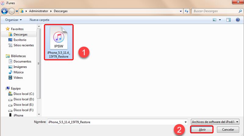 import ipsw file