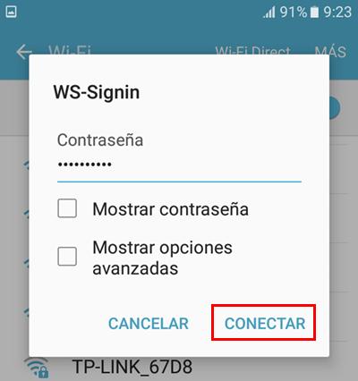conectar otra vez la red wifi