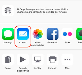 Transferir Vídeos al iPhone sin iTunes desde el Computador Mediante el Uso de Correo Electrónico