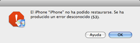 reparar error 53 del iphone