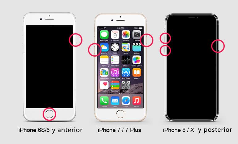 forzar reinicio de iphone para solucionar iphone congelándose