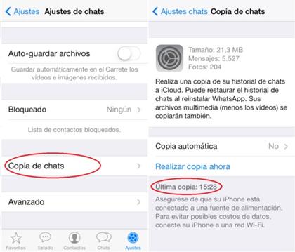 transferir chats de whatsapp para iphone a nuevo iphone usando icloud