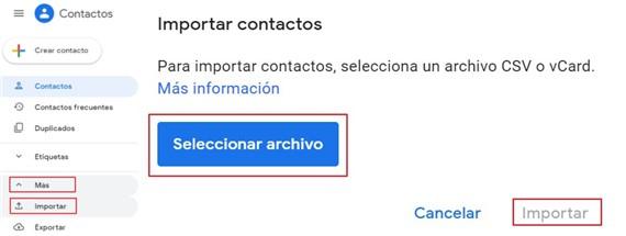 Transfiera Contactos de iPhone al Gmail de Android
