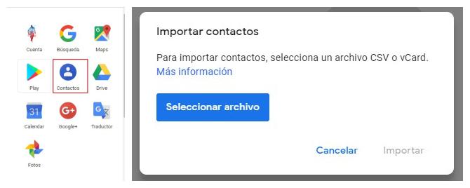 importar contactos para pasar contactos del Android al iPhone