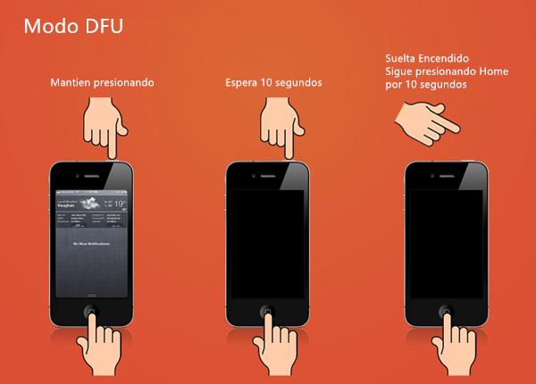 Reparar el error 27 del iPhone a través del modo DFU