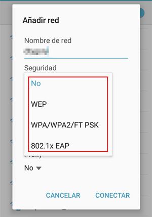 """presiona """"Seguridad"""""""