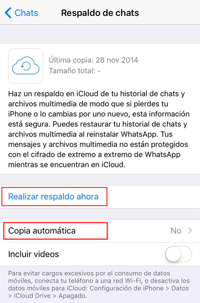 respalda whatsapp de iphone