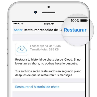 copiar conversaciones de de Android a iPhone