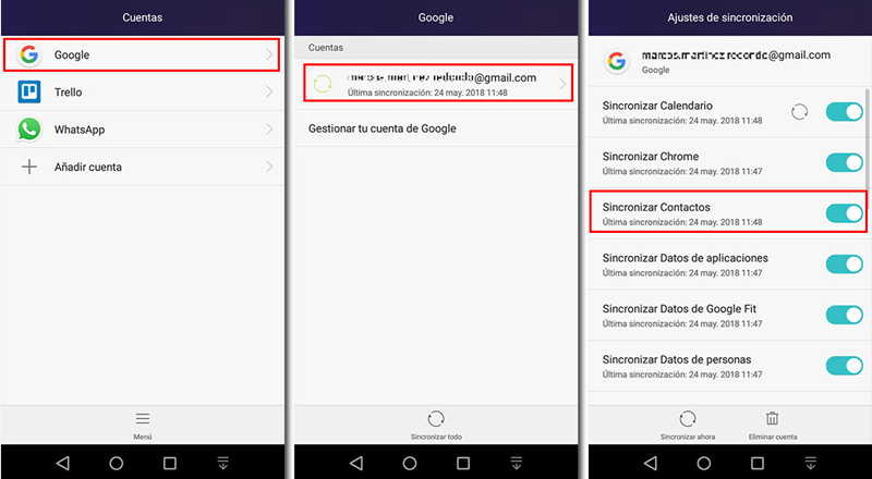 migrar contactos de Android a iPhone