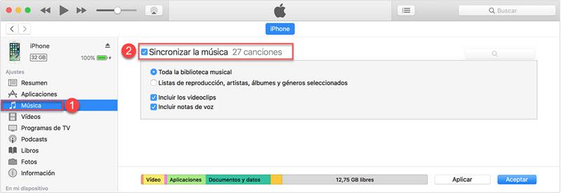 sincronizar videos de pc a iPhone con itunes