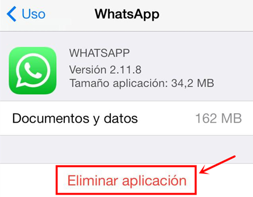 ios12whatsappproblemas y soluciones-Reinstala WhatsApp