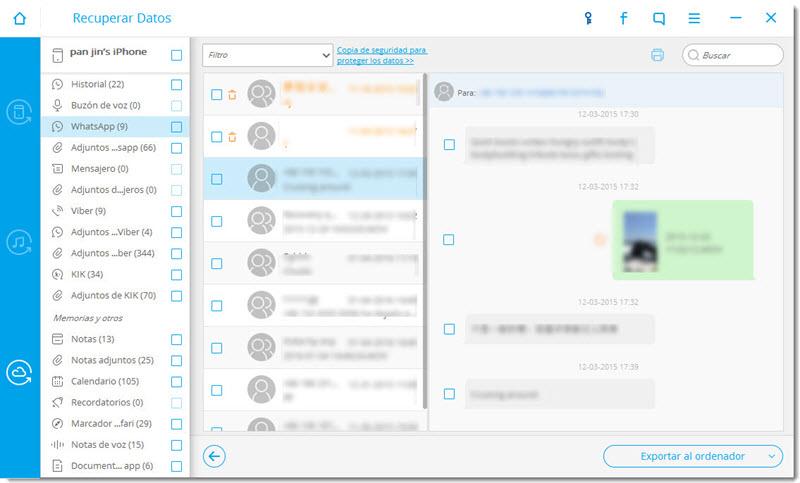 recuperar conversaciones whatsapp iphone dr fone