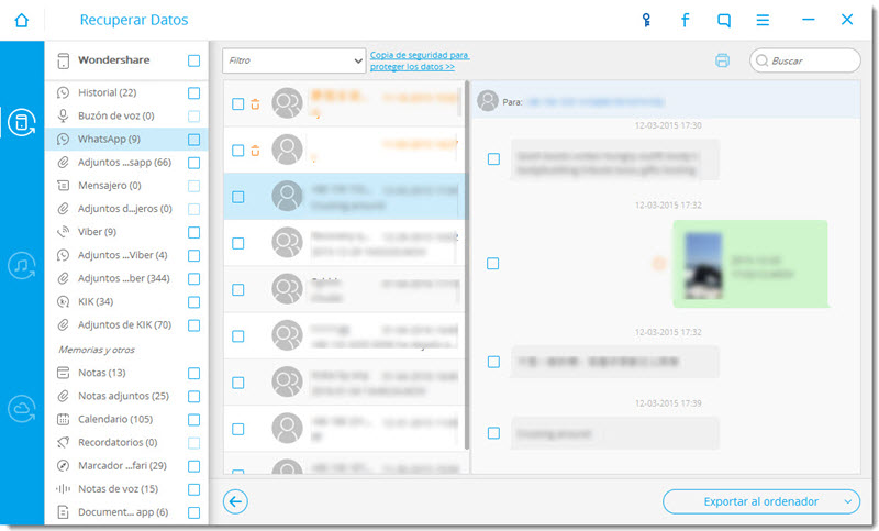 preview and recover iphone to retrieve WhatsApp messages