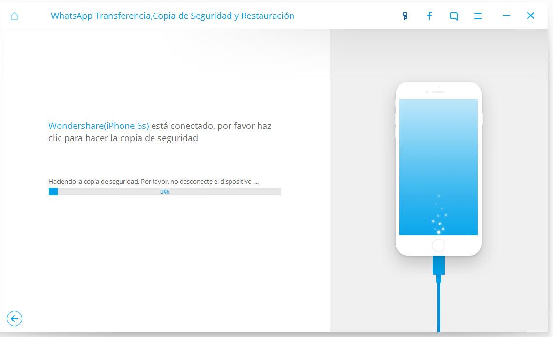 respalda mensajes de Whatsapp de iPhone