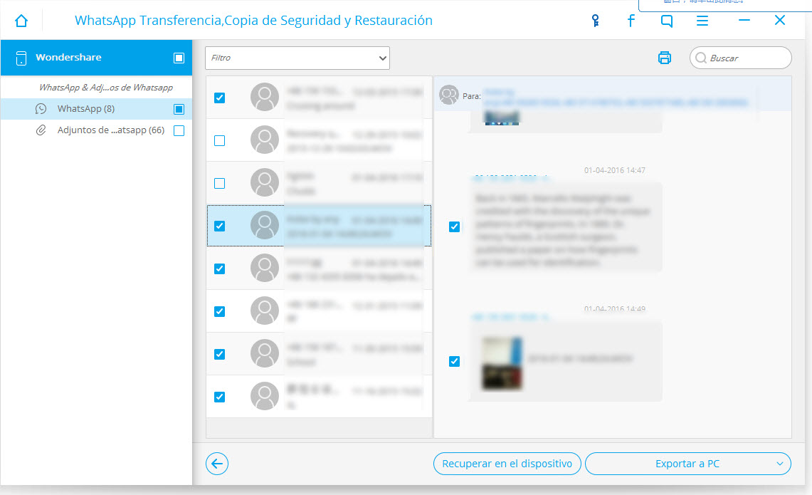 backup whatsapp messages- preview and export whatsapp messages