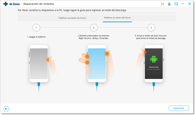 Modo de Descarga de Samsung
