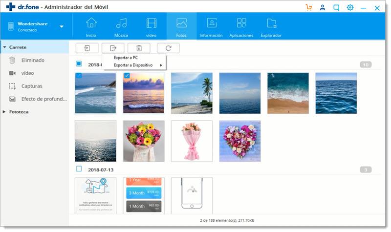 trasferir fotos de Huawei al Ordenador