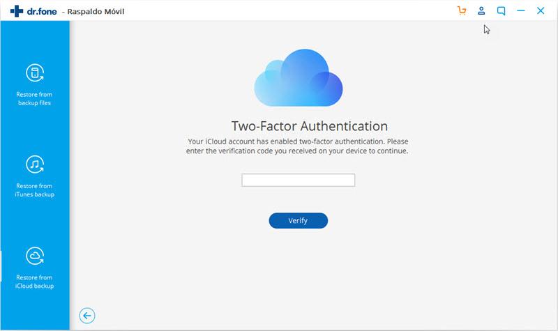 código de verificación de la autenticación de dos factores