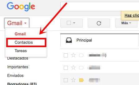 Recuperar Contactos de Gmail