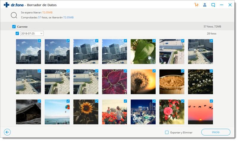 seleccionar fotos a exportar