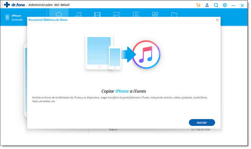 Copiar Música desde iPhone a iTunes