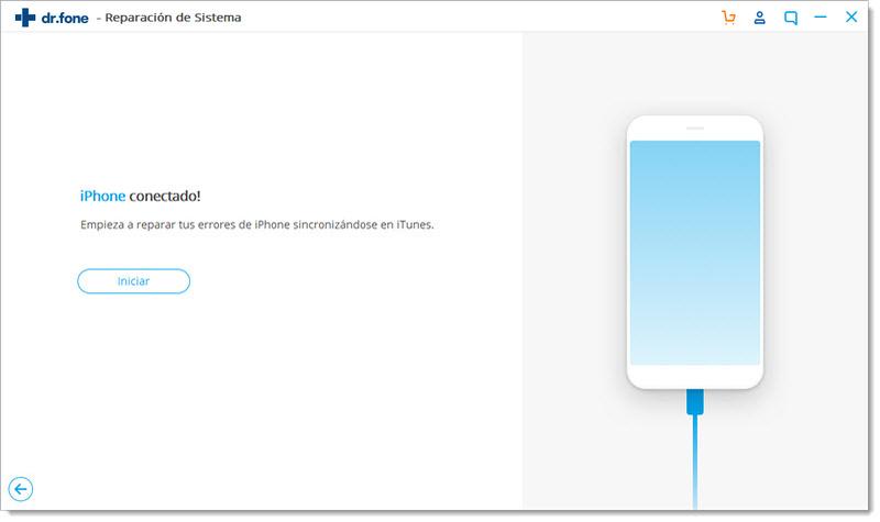 sacar dispositivo iOS del Modo de Recuperación