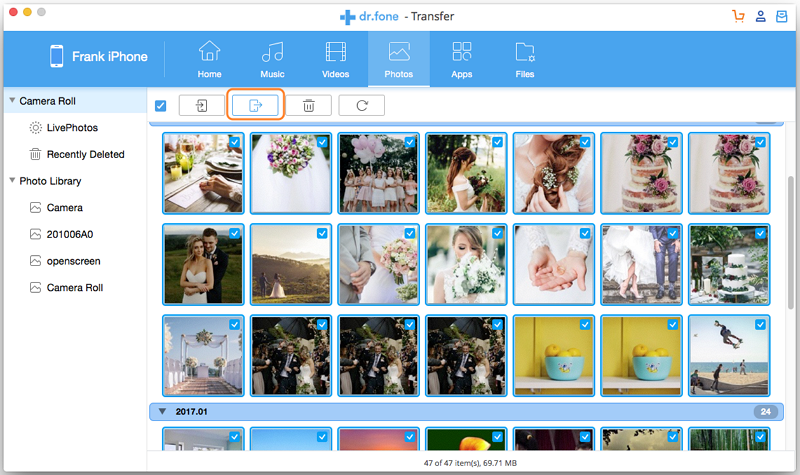 Transfer Photos from ipad to Mac with third party tool