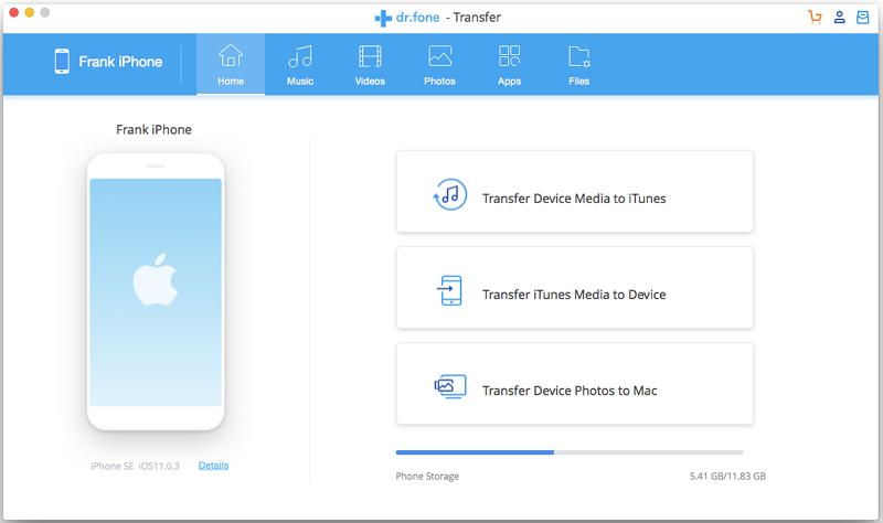 Use Wondershare TunesGo (Mac) to Transfer Photos from ipad to Mac