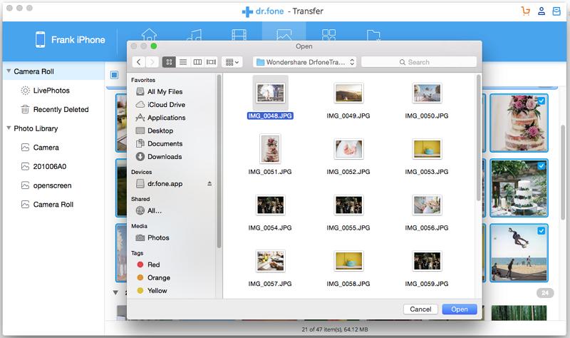 selecciona fotos en mac