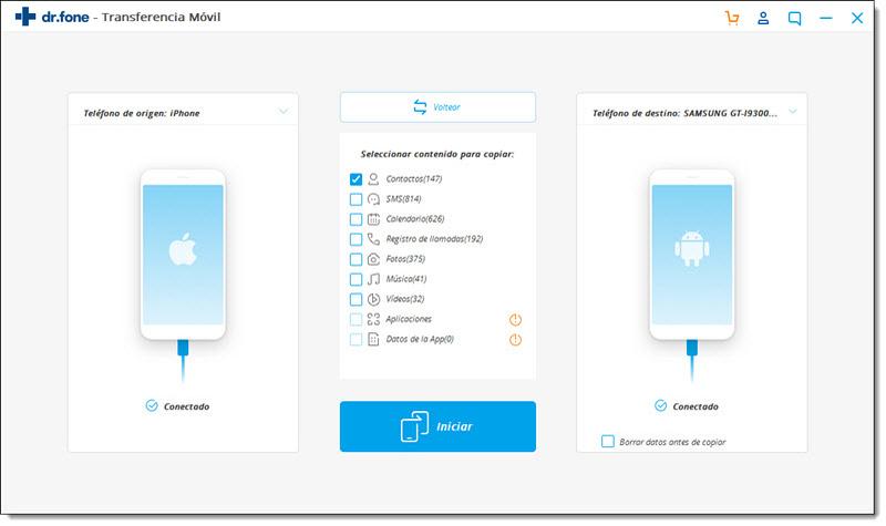 Cómo Transferir contactos desde iPhone a Android