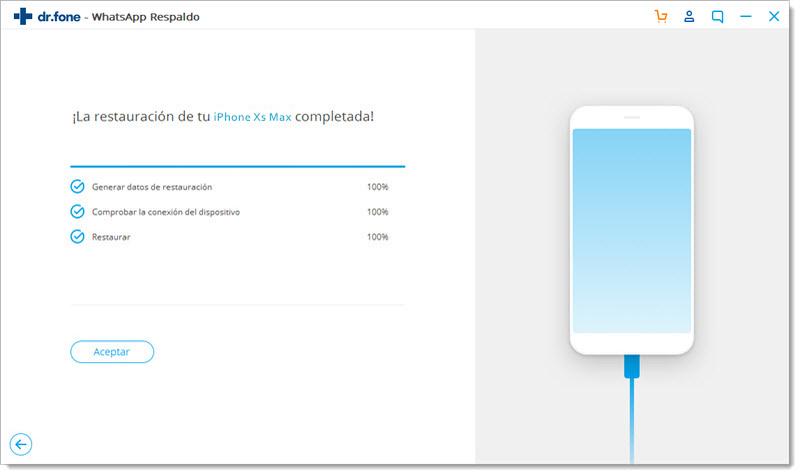 whatsapp de android restaurado en ios