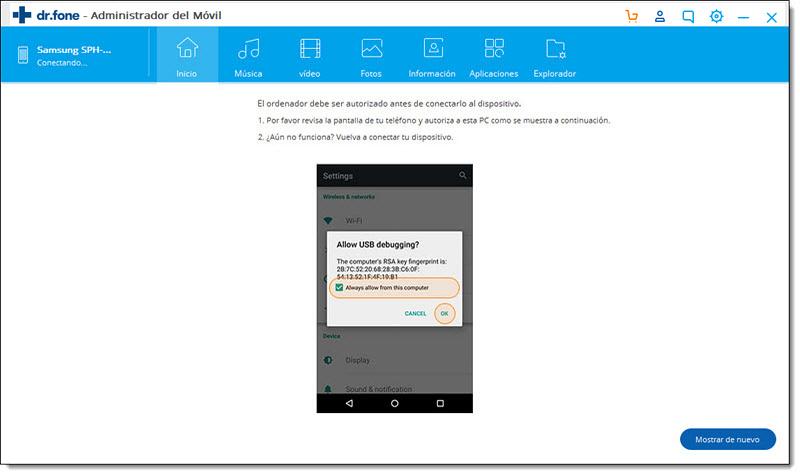 Permitir depuración USB en tu dispositivo Android