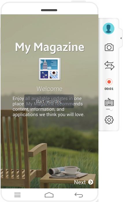 Grabar pantalla de Android con MirrorGo