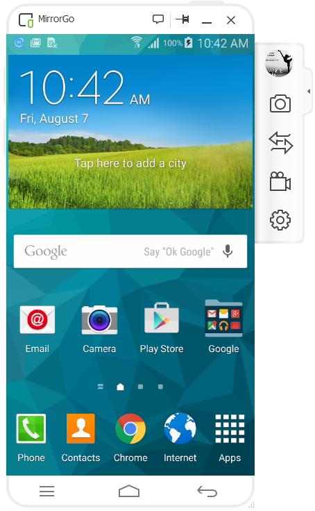 Graba la Pantalla de Android en la PC