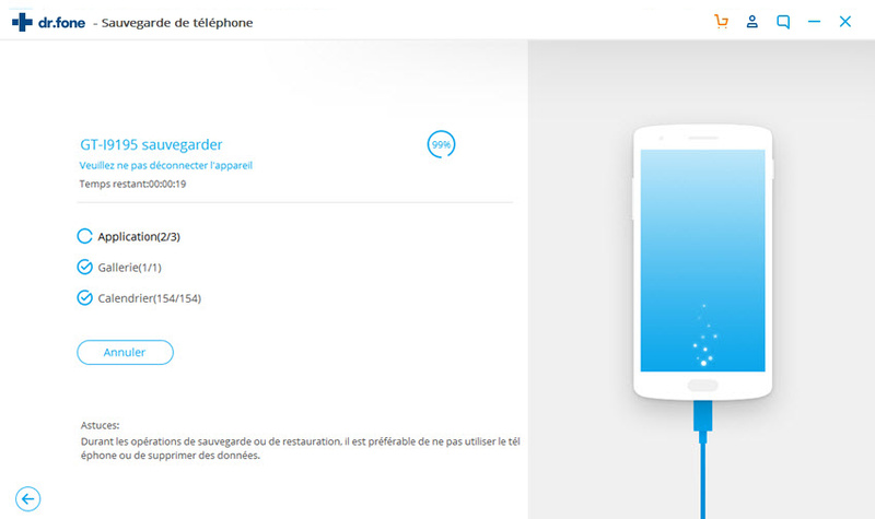 Sauvegarde de contacts htc