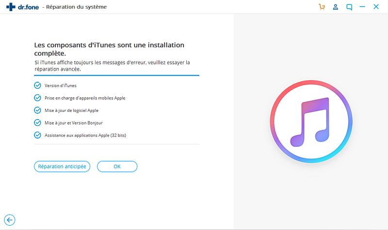 réparation avancée pour corriger l'erreur 9 d'iTunes