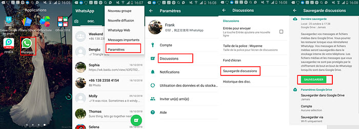 recuperer conversation whatsapp nouveau telephone Android