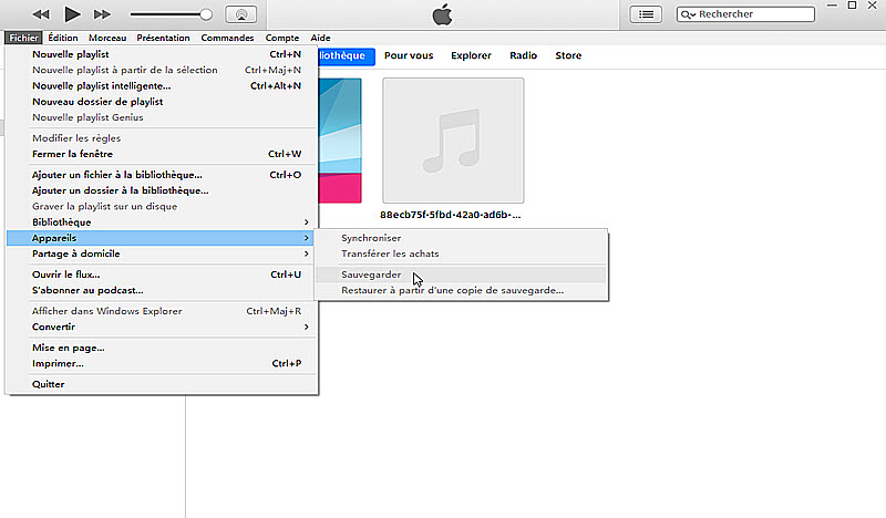 sauvegarde WhatsApp avec iTunes