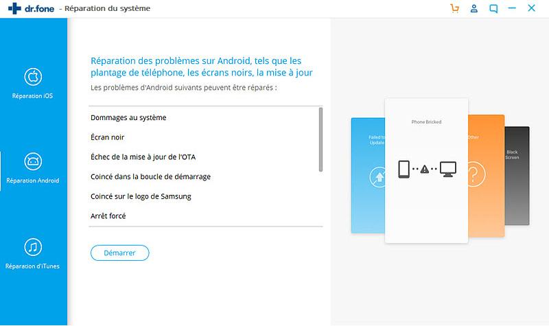 corriger l'erreur d'application Android non installée - sélectionnez Réparation Android