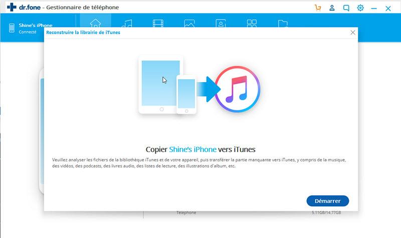 transférer de la musique depuis Android vers itunes-cliquer