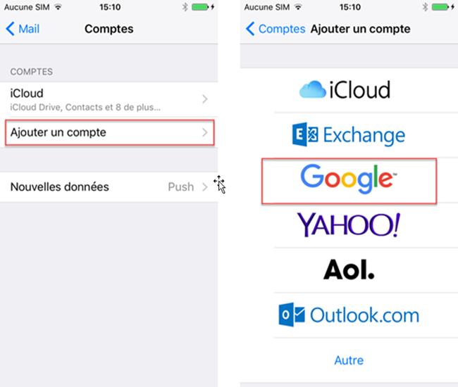 Synchroniser les contacts iPhone vers Gmail directement