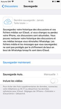 Restaurer sauvegarde whatsapp iphone