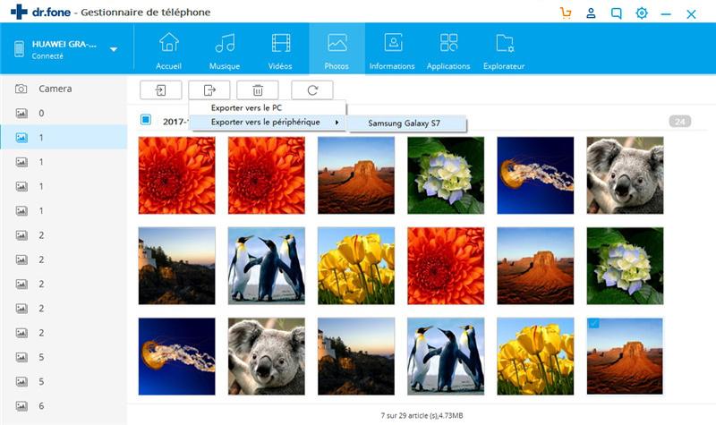 sauvegarde des photos Android sur l'ordinateur