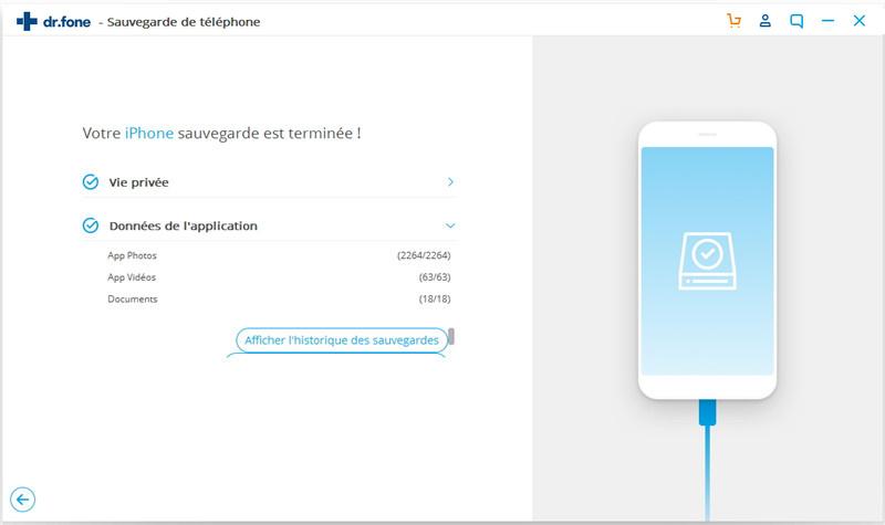 comment sauvegarder des données iPhone
