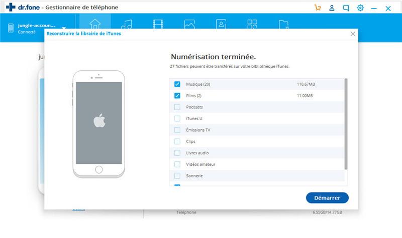 comment transférer de la musique d'Android vers iTunes - vérifier la musique et copier sur iTunes