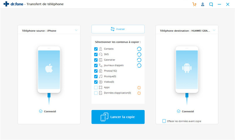 Transfert de contacts d'iPad vers iPhone directement - Transfert de contacts