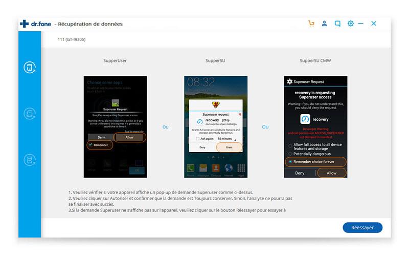 récupérer vos contacts supprimés sur Android 4