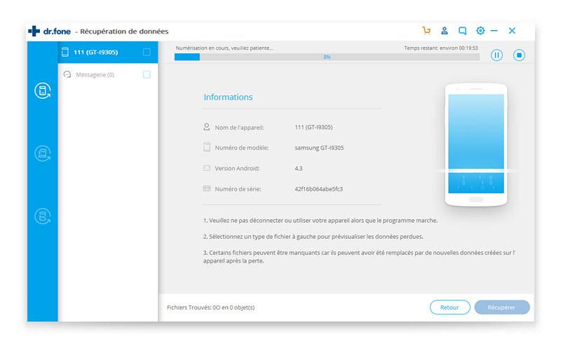 récupérer vos contacts supprimés sur Android 5