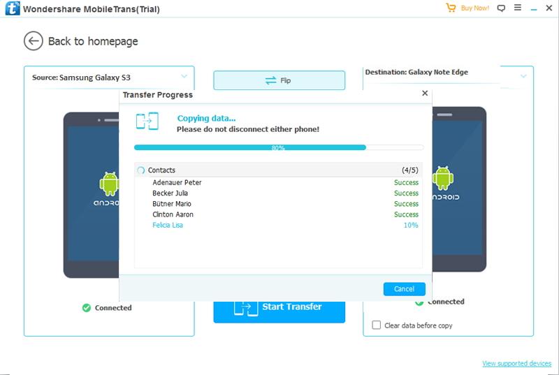 Transférer des fichiers HTC vers Samsung